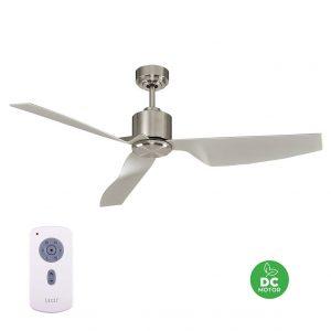 "LUCCI AIR AIRFUSION CLIMATE II 210525 50"" broušený chrom/stříbrná Reverzní stropní ventilátor"