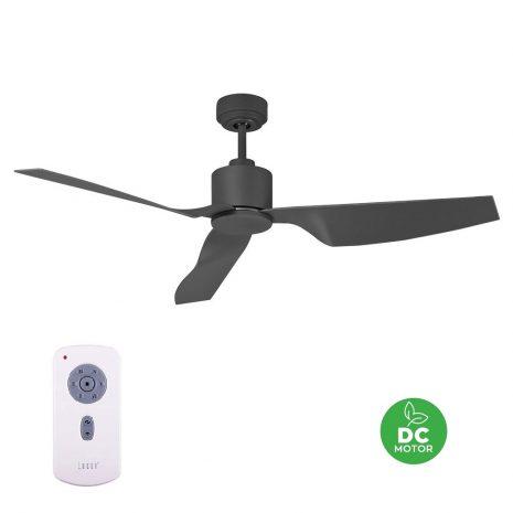 """LUCCI AIR AIRFUSION CLIMATE II 210527 50"""" dřevěné uhlí Reverzní stropní ventilátor"""