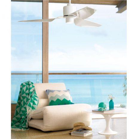 """LUCCI AIR AIRFUSION CLIMATE II 210528 50"""" bílá/bílá Reverzní stropní ventilátor"""
