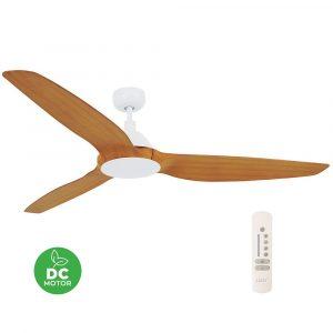 "LUCCI AIR AIRFUSION TYP A 211011 60"" bílá/dřevo Teak Reverzní stropní ventilátor"
