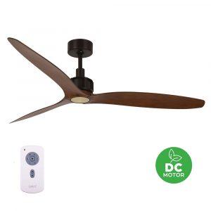 "BEACON LUCCI AIR VICEROY MATTE BLK 212917 52"" bronz/koa Reverzní stropní ventilátor"