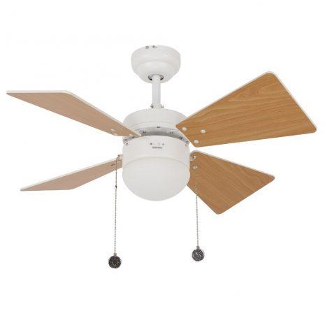 """LUCCI AIR BREEZER 512114 32"""" bílá/světlý buk/bílá Reverzní stropní ventilátor"""