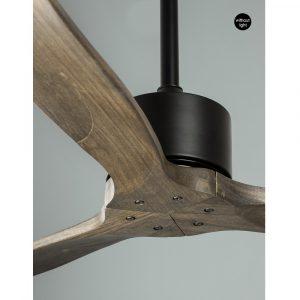 """NOVA LUCE VENTO 5231301 52"""" černá/tmavé dřevo Reverzní stropní ventilátor"""