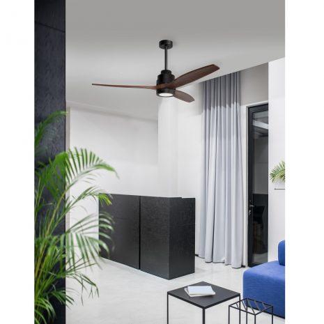 """NOVA LUCE SABAL 5231401 52"""" černá/tmavé dřevo Reverzní stropní ventilátor"""