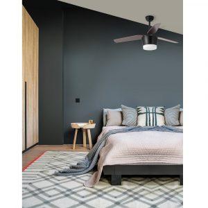 """NOVA LUCE MONSOON 5260251 52"""" černá/tmavé dřevo Reverzní stropní ventilátor"""