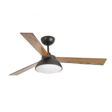 """FARO RODAS LED 33523 52"""" hnědá/hnědá/tmavé dřevo Reverzní stropní ventilátor"""