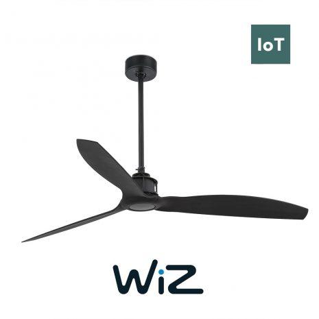 """FARO JUST FAN 32100W 50,4"""" černá/černá Reverzní stropní ventilátor WiZ"""