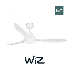 """FARO POLARIS LED 33346W 52"""" bílá/bílá Reverzní stropní ventilátor WiZ"""