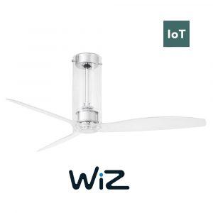 """FARO TUBE FAN 33374W 50,4"""" chrom/transparentní Reverzní stropní ventilátor WiZ"""