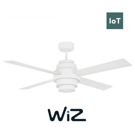 """FARO DISC FAN LED 33397W 52"""" bílá/bílá Reverzní stropní ventilátor WiZ"""