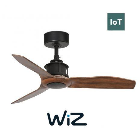 """FARO JUST FAN 33425W 35,8"""" černá/tmavé dřevo Reverzní stropní ventilátor WiZ"""