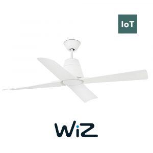 "FARO TYPHOON 33480W 51,8"" bílá/bílá Reverzní stropní ventilátor IP44 WiZ"