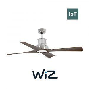 "FARO WINCHE 33482W 50"" chrom/tmavé dřevo Reverzní stropní ventilátor WiZ"