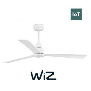 """FARO NASSAU 33487W 50,4"""" bílá/bílá Reverzní stropní ventilátor WiZ"""
