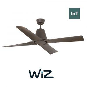 """FARO TYPHOON 33490W 51,8"""" hnědá/hnědá Reverzní stropní ventilátor WiZ"""