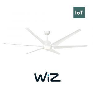 """FARO CIES 33512W 83"""" bílá/bílá Reverzní stropní ventilátor WiZ"""
