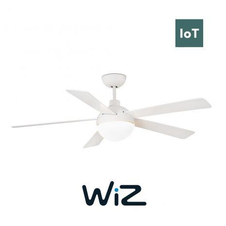 """FARO IZARO 33514 51,18"""" bílá/bílá Reverzní stropní ventilátor WiZ"""