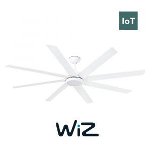 """FARO CENTURY LED 33553W 65"""" bílá/bílá Reverzní stropní ventilátor WiZ"""