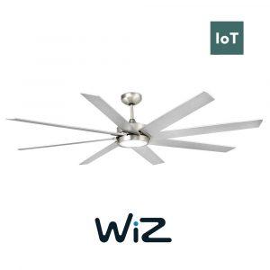 "FARO CENTURY LED 33554W 65"" matný nikl/šedá Reverzní stropní ventilátor WiZ"